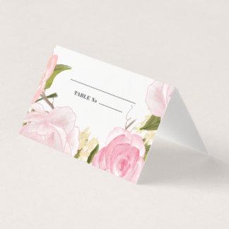 Cartões do lugar da mesa do casamento do design