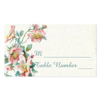 Cartões do lugar do casamento cartão de visita