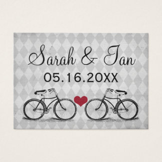 Cartões do lugar do casamento da bicicleta do