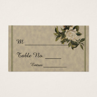 Cartões do lugar do casamento do Gardenia do