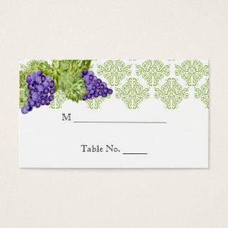 Cartões do lugar do casamento do jardim da vinha