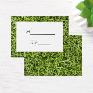 Cartões do lugar do casamento do quintal da grama