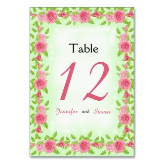 Cartões do lugar do casamento do rosa do rosa