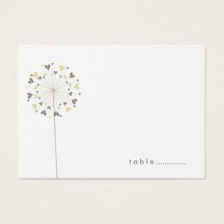 Cartões do lugar do casamento do verão do amor dos