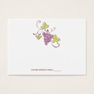 Cartões do lugar do casamento do vinhedo de Tuscan