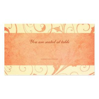 Cartões do lugar do convite do casamento do melão cartão de visita