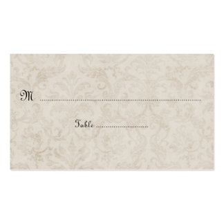 Cartões do lugar do damasco do marfim de Tan do Cartão De Visita