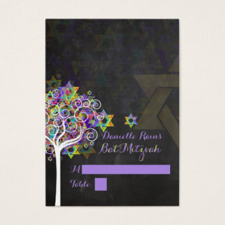 Cartões do lugar do mitzvah de PixDezines/árvore