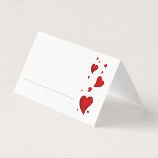 Cartões do lugar do partido dos namorados