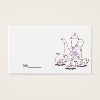 Cartões do lugar do tea party
