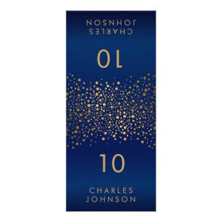Cartões do lugar dos pontos dos confetes dos azuis