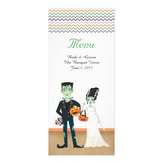Cartões do menu do casamento do Dia das Bruxas da 10.16 X 22.86cm Panfleto
