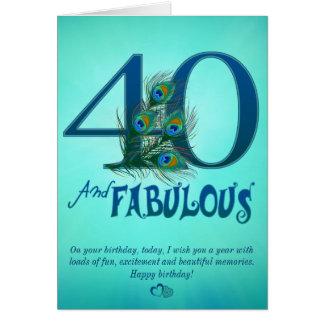 Cartões do modelo do aniversário de 40 anos