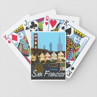 Cartões do montagem do vintage de San Francisco Jogos De Baralho