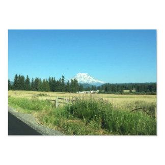 Cartões do Monte Rainier horizontais Convite 12.7 X 17.78cm