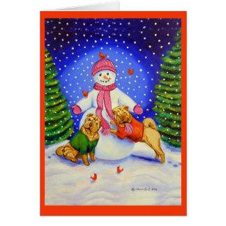 Cartões do Natal de SharPei
