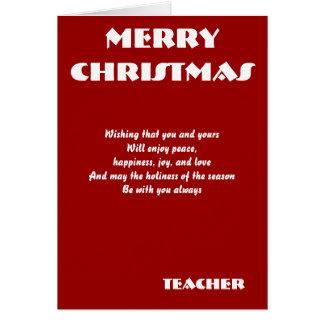 Cartões do Natal do professor