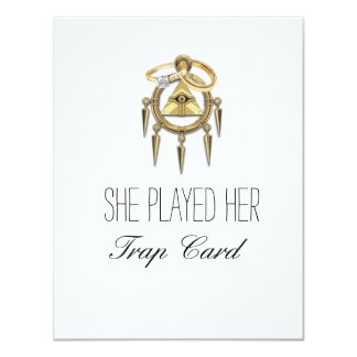 Cartões do noivado do cartão da armadilha convite 10.79 x 13.97cm