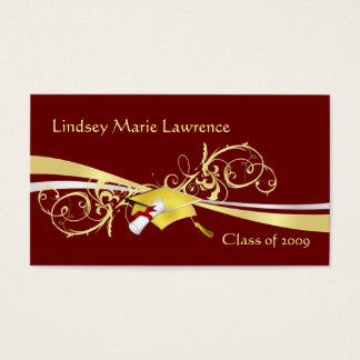 Cartões do nome e do contato de Graduatation