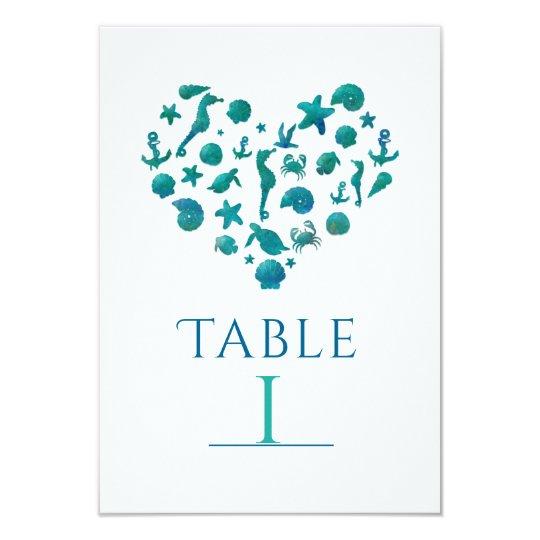 Cartões do número da mesa da aguarela da cerceta convite 8.89 x 12.7cm