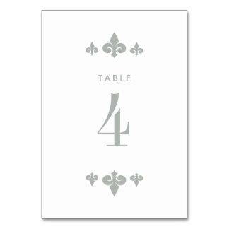 Cartões do número da mesa do casamento da flor de