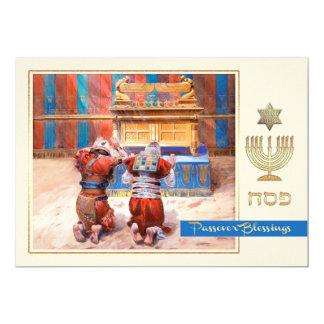 Cartões do Passover das belas artes do antigo Convite 12.7 X 17.78cm