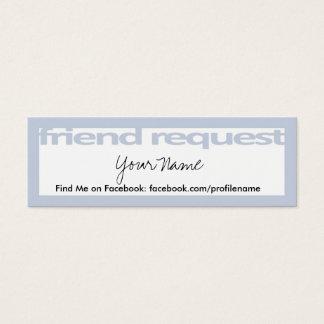 Cartões do pedido do amigo