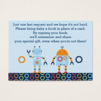 Cartões do pedido do livro do robô/bot do bebê
