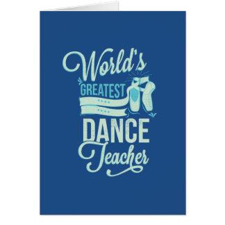 Cartões do professor da dança do mundo os grandes