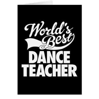 Cartões do professor da dança do mundo os melhores