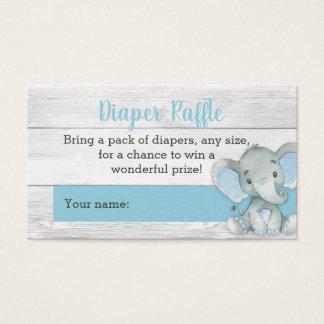 Cartões do Raffle da fralda do elefante do menino
