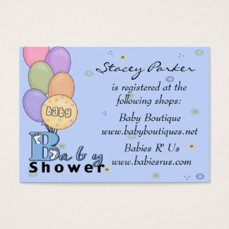 Cartões do registro da celebração do bebé