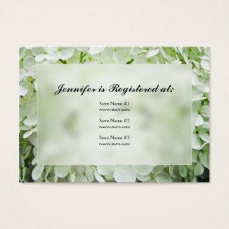 Cartões do registro do chá de panela do Hydrangea