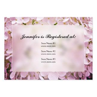 Cartões do registro do chá de panela do Hydrangea Modelo Cartões De Visitas