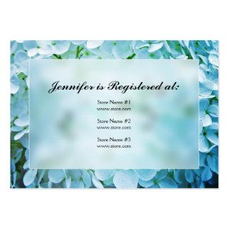 Cartões do registro do chá de panela do Hydrangea Modelo Cartões De Visita