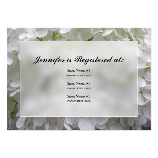Cartões do registro do chá de panela do Hydrangea Cartoes De Visitas