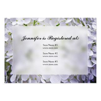 Cartões do registro do chá de panela do Hydrangea Modelos Cartão De Visita