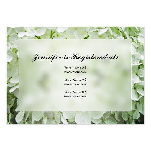 Cartões do registro do chá de panela do Hydrangea Modelo Cartoes De Visita