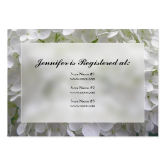 Cartões do registro do chá de panela do Hydrangea Cartão De Visita Grande