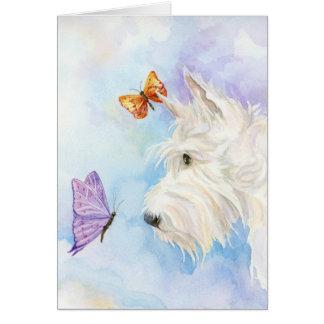 Cartões do Scottie e das borboletas