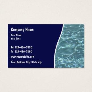 Cartões do serviço da piscina