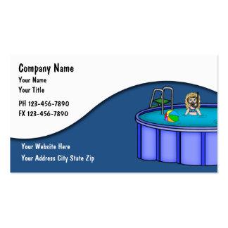 Cartões do serviço da piscina cartões de visita