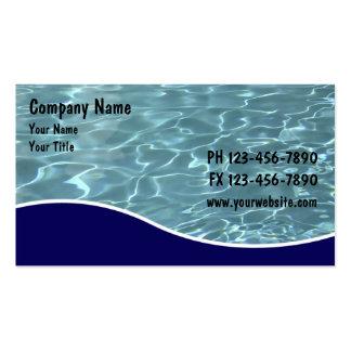 Cartões do serviço da piscina cartão de visita