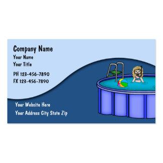 Cartões do serviço da piscina cartões de visitas