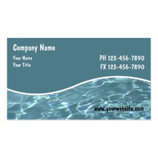Cartões do serviço da piscina modelo cartoes de visitas