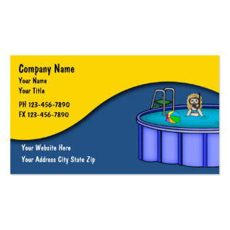 Cartões do serviço da piscina cartoes de visitas