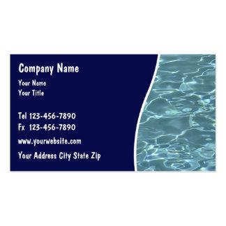 Cartões do serviço da piscina modelo cartão de visita