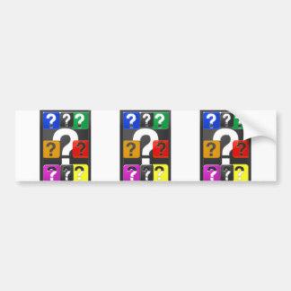 Cartões do símbolo das PERGUNTAS, ímã, botão, PRES Adesivo