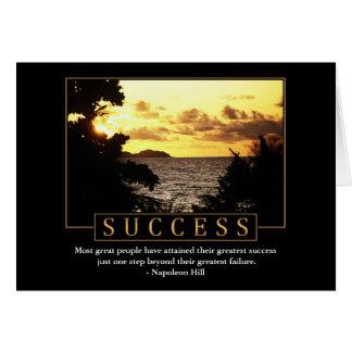Cartões do sucesso