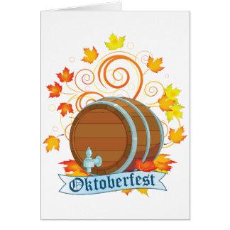 Cartões do tambor de Oktoberfest